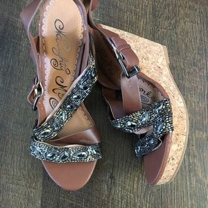 Buckle Strappy Wedges